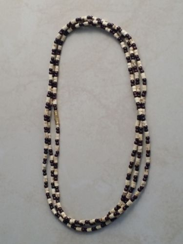 Tulsi Neck Beads Mixed With Black Beads [Three loops around the neck]